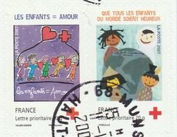 FRANCE 2007 CROIX ROUGE ADHESIF LA PAIRE SE TENANT P145 OU P4125 - France