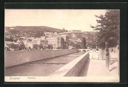 AK Sarajewo, Appelquai, Teilansicht - Bosnia And Herzegovina