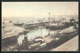 AK Osaka, Hafenpartie Mit Dampfern - Osaka