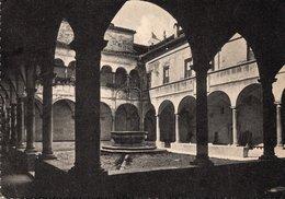 FABRIANO - CHIOSTRO CHIESA DI SAN BIAGIO - F. GRANDE NON LUCIDA - VIAGGIATA 1955 - (rif. A75) - Italië