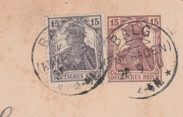 Deutsches Reich Karte Mit Tagesstempel Balg Amt Baden 1920 KOS Stempel - Allemagne