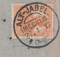 Deutsches Reich Karte Mit Tagesstempel Alt - Jabel Mecklenburg 1917 KOS Stempel - Deutschland