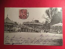 """Souvenir De La Foire TAD De NANCY En 1905,""""Grande Montagne Russes  Circulaire A Vapeur Vue De L'arrière Du Manège - Nancy"""