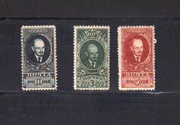 Russie URSS 1928 Yvert 416 / 418 ** Sans Charnière. Lénine. (2031t) - 1923-1991 USSR