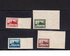 Russie URSS 1925 Yvert 328 / 335 ** Non Dentelés 330 Avec Charnière 329: Traces D'encre. Mausolée Lénine. (2033t) - 1923-1991 USSR