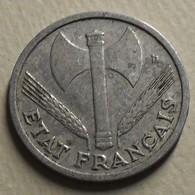 1943 - France - 1 FRANC, Bazor, Poids Faible, Avec LB, KM 902.1, Gad 471 - H. 1 Franc