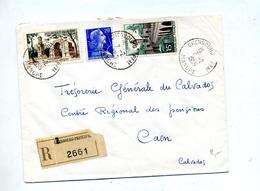 Lettre Recommandée Cherbourg Sur Muller Remy Quesnoy - Poststempel (Briefe)