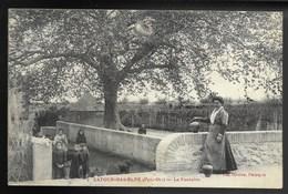 66-LATOUR-BAS-ELNE-La Fontaine...1919  Animé - Autres Communes