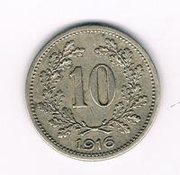 10 HELLER 1916 OOSTENRIJK /9434/ - Oostenrijk