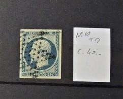 12 - 19 //  France - N° 10 - TB Oblitéré étoile De Paris //  Cote : 40 Euros - 1852 Louis-Napoléon