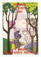 Cp, Bourses & Salons De Collections, 4 E Salon De La Carte Postale , 1981 , CHARMES , 88 , Vosges , Vierge - Bourses & Salons De Collections