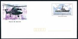 FRANCE- PAP Neuve PORTE-HELICOPTERE JEANNE D'ARC + Hélico LYNX Illustré - Enteros Postales