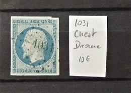 12 - 19 //  France - 20c Bleu Oblitéré 1031 - Crest - Drome - Marcophilie (Timbres Détachés)
