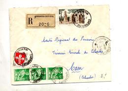 Lettre Recommandée Cherbourg Sur Moisson Remy - Poststempel (Briefe)