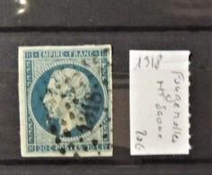 12 - 19 //  France - 20c Bleu Oblitéré 1318  - Fougerolles - Haute Saone - Marcophilie (Timbres Détachés)