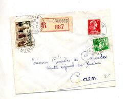 Lettre Recommandée Bricquebec Sur Muller Moisson Remy - Poststempel (Briefe)