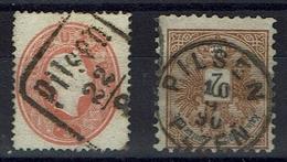 Tschechischolowakei / Böhmen / Österriech - Stempel: Plzen Pilsen - 2 Marken - Tchécoslovaquie