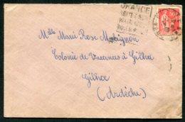 16101 FRANCE N°283° Daguin : Orange   ?   Du 24.8. 1934   B/TB - Marcophilie (Lettres)