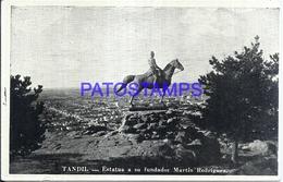126871 ARGENTINA TANDIL BUENOS AIRES ESTATUA A SU FUNDADOR MARTIN RODRIGUEZ POSTAL POSTCARD - Argentina