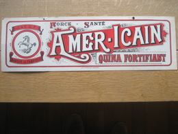 """Ancien Carton Publicitaire  Original J. & E. LETESSON Frères """"AMER-ICAIN"""" Distillerie Du Sport à ANDRIMONT-VERVIERS - Targhe Di Cartone"""