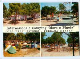Y13477/ Lido Degli Estensi - Ferrara Camping  Mare E Pineta Italien AK 1964 - Italy