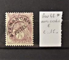 12 - 19 //  France - N° 42 * - MH - Avec Crochet Sur Le E - Préoblitérés