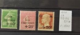 12 - 19 //  France - 1929 - Caisse D'amortissement N° 253 -254 - 255 * - MH - Cote : 120 Euros - Neufs