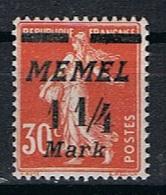 Memel Y/T 68 (*) - Unused Stamps