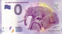 Allemagne - Billet Touristique / Souvenir 0 €uro - 2017 / ALLWETTERZOO MÜNSTER . - Essais Privés / Non-officiels