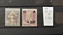12 - 19 //  France - 1928 - Caisse D'amortissement N° 249 - 251  * - MH - Cote : 72 Euros - Neufs