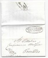 REPUBBLICA ROMANA - DA CORINALDO PER CITTA' - 21.4.1849. - ...-1850 Préphilatélie