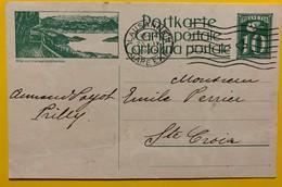 9684 - Entier Postal Illustration Rigi Mit Vieraldstättersee Lausanne 23.09.1925 - Enteros Postales