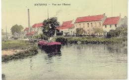 ANTOING - Vue Sur L' Escaut - Péniche - S.D.Série Colorisé - Antoing