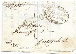 REPUBBLICA ROMANA - DA OSIMO A CASTELFIDARDO - 1.5.1849. - ...-1850 Préphilatélie