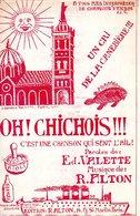 MARSEILLE CHANSON QUI SENT L'AIL AIOLI PASTIS - CRI DE LA CANEBIERE OH CHICHOIS !! -DE VALETTE / ALTON  - 1933 - TB ETAT - Musica & Strumenti