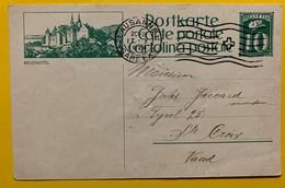9686 - Entier Postal Illustration Neuchâtel Lausanne 17.10.1924 - Enteros Postales