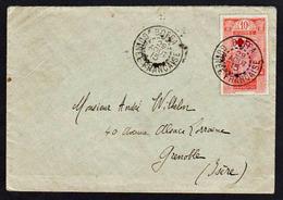 GUINEE (Anc. Col. Françaises) Croix Rouge. Timbre N° 80 Surchargé Croix Rouge, Obl. Boffa (Guinée Française)............ - Guinée Française (1892-1944)