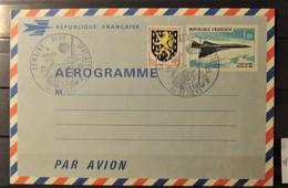 12 - 19 //  France - Aérograme N° 1001 Oblitéré Semaine Aéro Spaciale - Bezier  - Concorde - - Ganzsachen