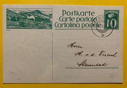 9688 - Entier Postal Illustration Rigi Stansstad 31.10.1924 - Entiers Postaux