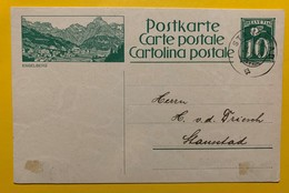 9689 - Entier Postal Illustration Engelberg  Stansstad 31.10.1924 - Entiers Postaux