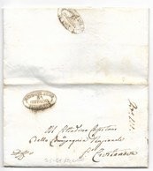 REPUBBLICA ROMANA - DA RECANATI A PORTO CIVITANOVA - 2.5.1849. - ...-1850 Préphilatélie