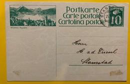 9690 - Entier Postal Illustration Vitznau Stansstad 31.10.1924 - Entiers Postaux