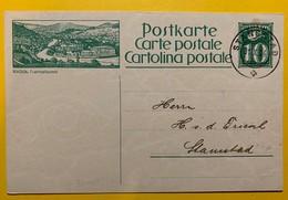 9691 - Entier Postal Illustration Baden  Stansstad 31.10.1924 - Entiers Postaux