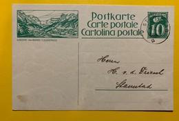 9692 - Entier Postal Illustration Loeche-les-Bains  Stansstad 31.10.1924 - Enteros Postales
