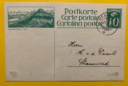 9693 - Entier Postal Illustration Bad Gurnigel  Stansstad 31.10.1924 - Enteros Postales