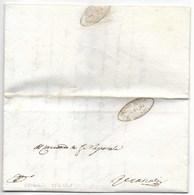 REPUBBLICA ROMANA - DA RECANATI PER CITTA' - 5.4.1849. - ...-1850 Préphilatélie