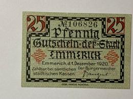 Allemagne Notgeld Emmerich 25 Pfennig - Collections
