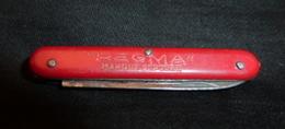 Couteau Ancien, Publicité,  REGMA - 1 Lame - Cuchillos