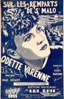 SUR LES REMPARTS DE SAINT MALO - DE HELLIET / VARENNE - PAR ODETTE VARENNE. - 1945 - BON ETAT - - Music & Instruments