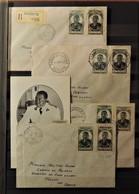 12 - 19 //  4 Lettres // Cotes Fr Des Somalis + Sénégal + AEF + Reunion + 1 Carte AEF // Cote : 74 Euros - 1945 Gouverneur-Général Félix Éboué